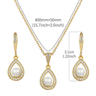 Zirconia Jewelry Set New Arrival Exquisite Cubic Zirconia CZ Crystal And Shell Pearl Bridal Or Bridesmaid's Necklace Jewelry Set
