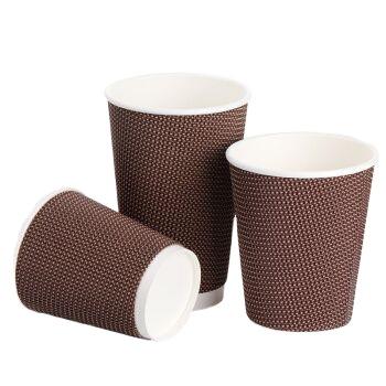 Café descartável eco e portátil parede ripple copo de papel com tampa