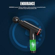 ЖК-дисплей массажный пистолет 33,6 Вт глубокий мышечный массажер мышечная боль массаж тела Расслабляющий массаж для похудения облегчение бо...(Китай)