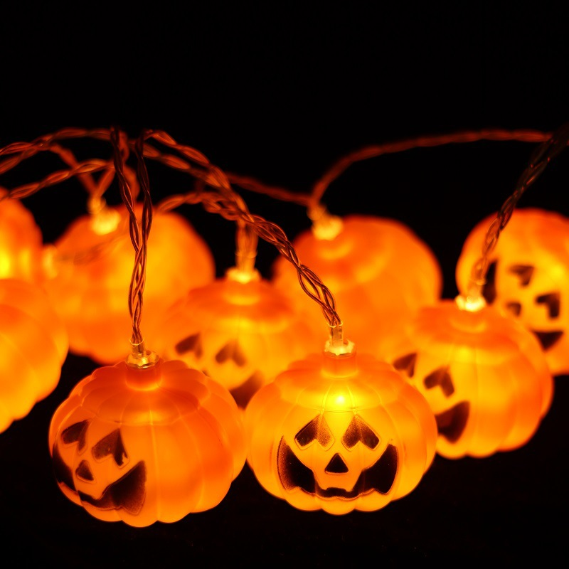 Wholesale Halloween Decoration Battery Powered Led Pumpkin String Lights
