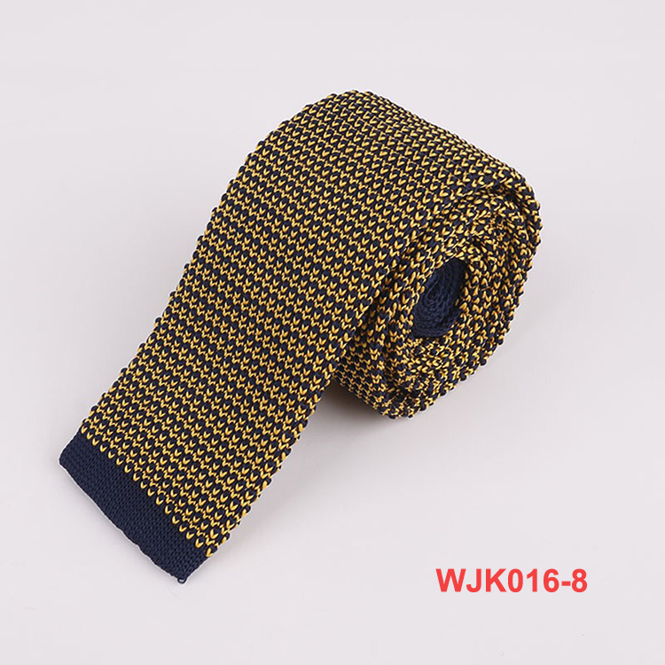 Mens Fashion Various Color Small Dots Pattern Knitted Ties Neckwear