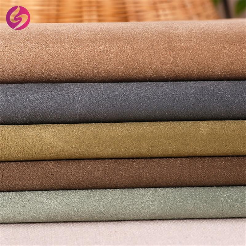 منسوجات صيني قماش من جلد الظباء من قماش اصطناعي من الجلد المدبوغ منسوج من الفرو الصناعي