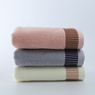 Stripe 100% Cotton Towel 100 Towels 100% Cotton Face Towel Hotel Home Customized Soft Touch Hot Sale from China