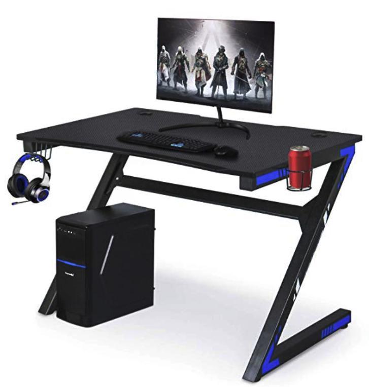 Low price metal bracket protabe desk  Z-shaped computer table