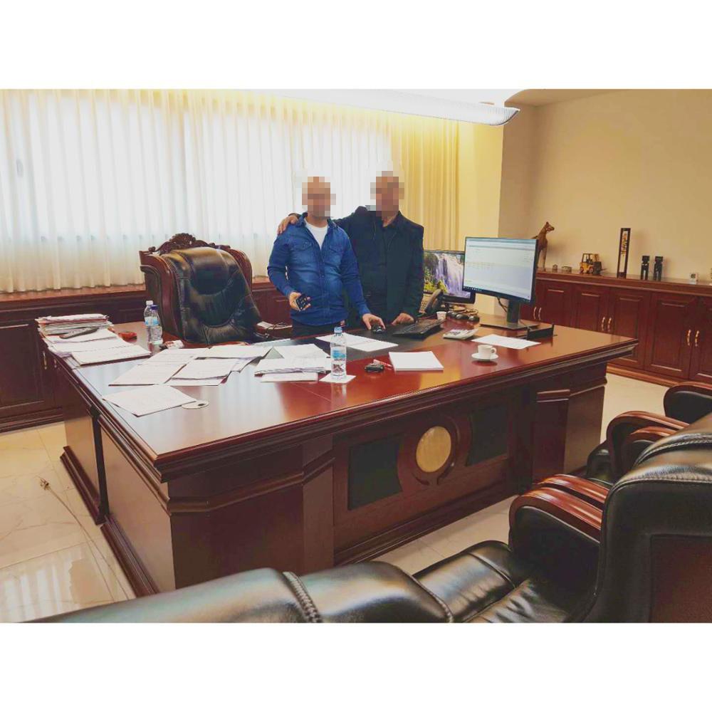 Mewah Kayu Perabot Kantor Presiden Meja