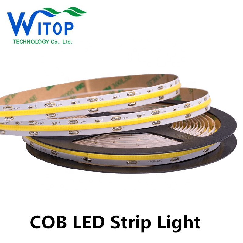 WITOP original manufacturer white color tape 24V NON Waterproof 10mm COB LED Strip light