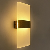 Promotional indoor white led wall lamp 8w decorative square shape wall light for home