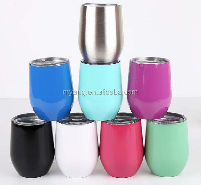 China manufacturer wholesale 12 Oz wine cups stainless steel wine tumbler