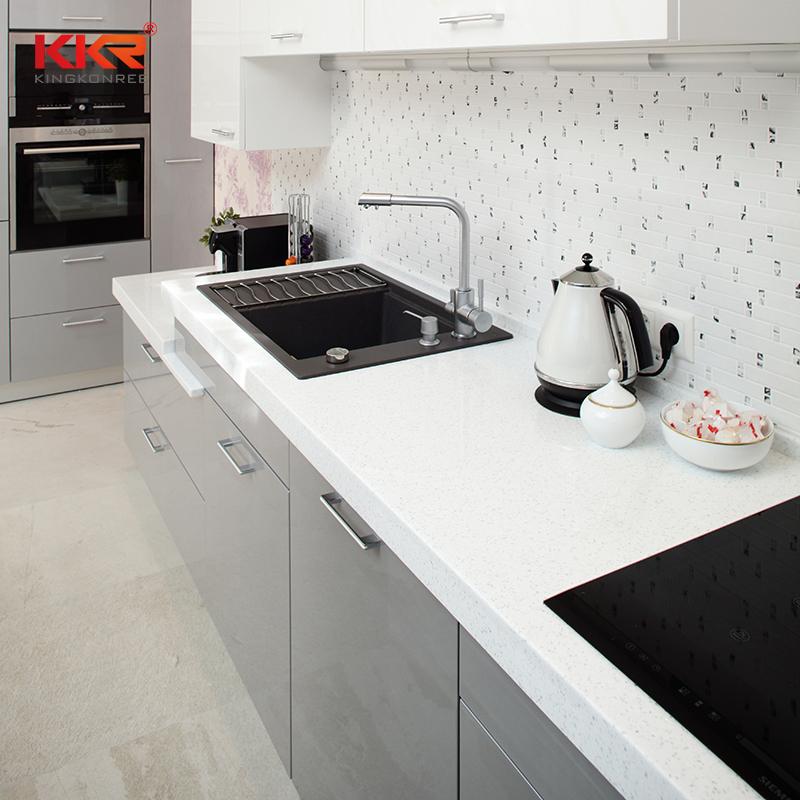 Acrylic Solid Surface Bathroom Furniture White Undermount Corner