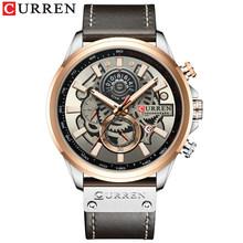 Часы CURREN Top мужские, Роскошные, брендовые, модные, кварцевые, кожаные, спортивные, наручные часы с секундомером(Китай)