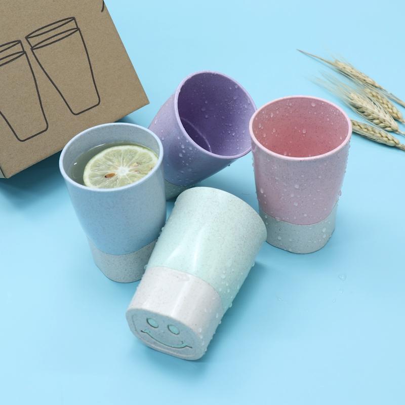 Thân Thiện Với Môi Rơm Lúa Mì Cup Biodegradabletravel Ly Cà Phê Tumbler Cup