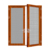 EU standard double leaf aluminum thermal break swing door factory supplier