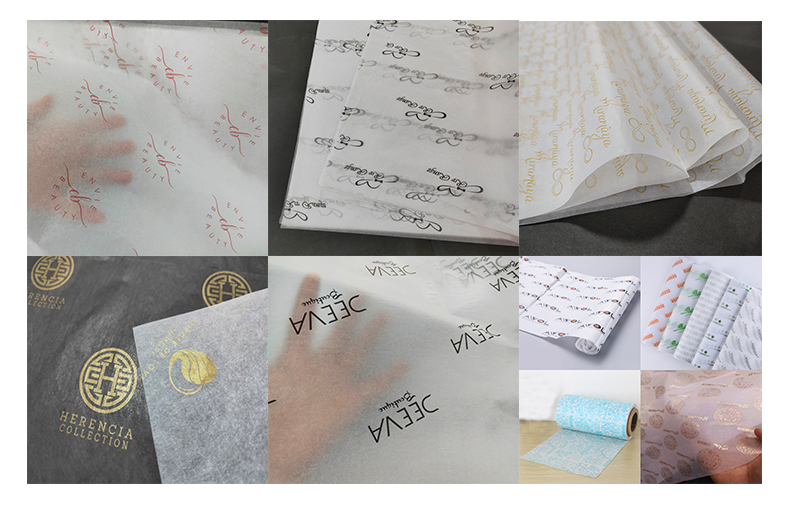 Custom printed clothing tissue paper , wrapping paper for garment