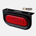 24v 12v flash stop round rear combination side marker tail led trailer lights for truck and boat wireless dafa submersible
