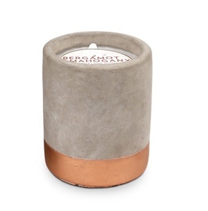 100% natural popular hand-make cement jar aromatherapy scented fragrance candle