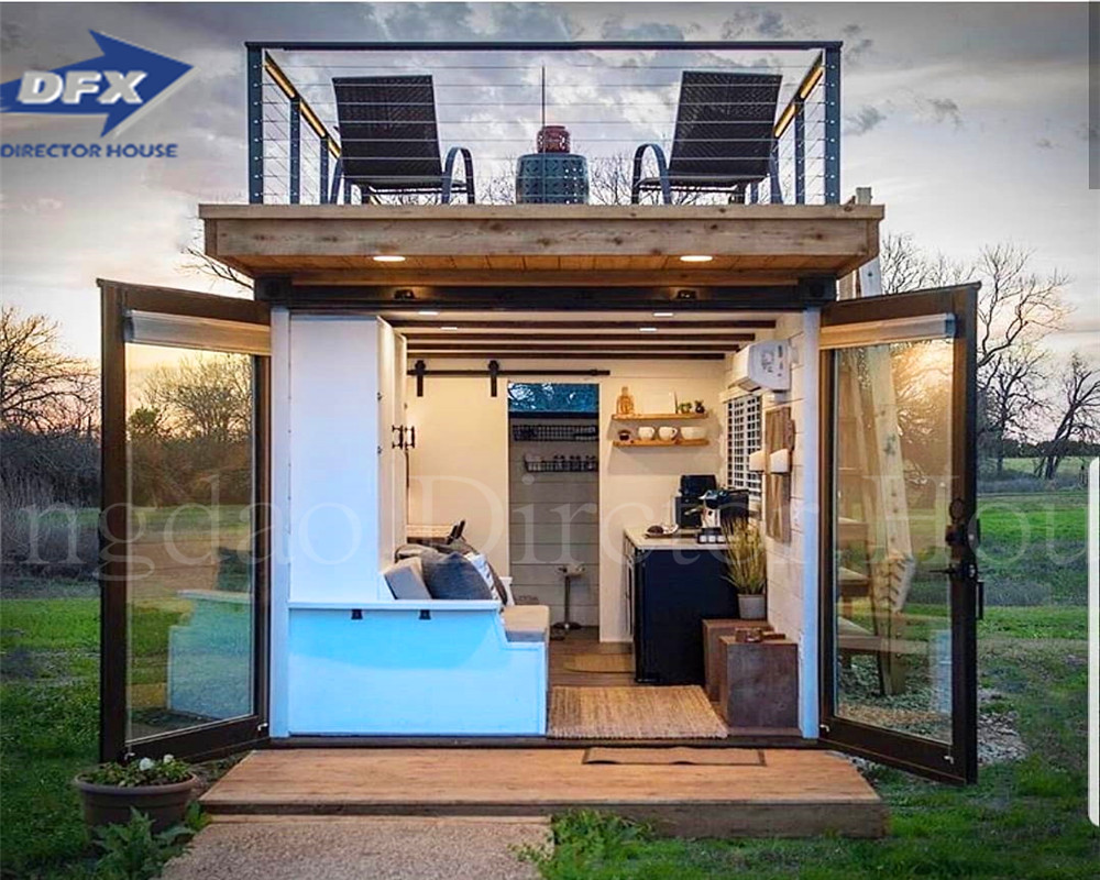 Fast install Steel Structure Prefabricated Luxury villa Two Storey Prefab House container house