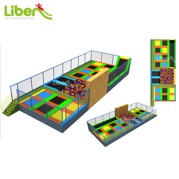 Anti-Fade Popular New Arrival Safety Colorful Kids Trampoline Jumping Bed,Large Trampoline Park with Foam Pit