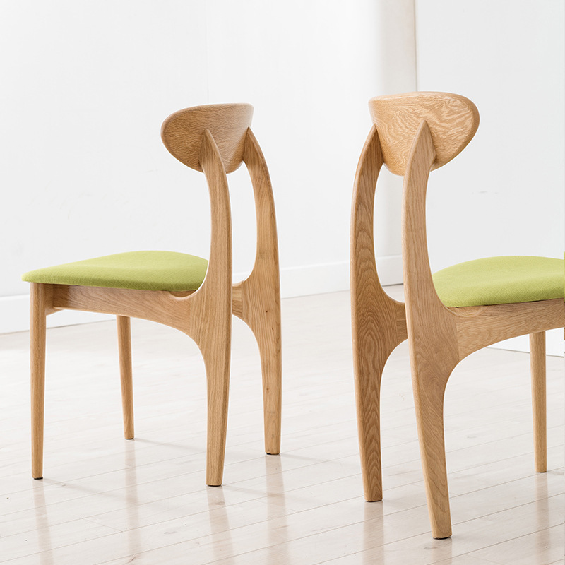 product-Modern dining chairs woodendining chair with fabric seat solid wood chairs for dining room-B