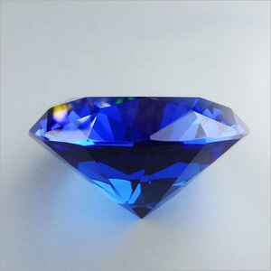 Blue Decorative K9 Crystal Glass Diamond for Lovers Gift crystal glass stone diamond shape