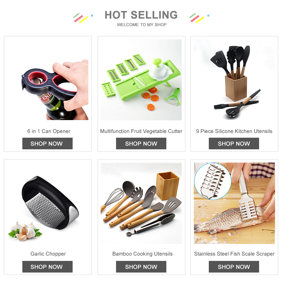 Hot 10 pieces silicone kitchen utensils handle cooking tools with holder