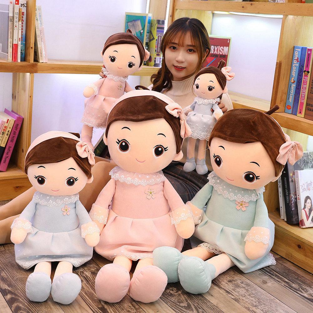PP katoen groothandel hotsale promotie mode accepteren custom pluche speelgoed schattige pluche meisje speelgoed custom lappenpop handgemaakte