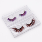 whole sale manufacturer stars natural curl colorful false eyelashes