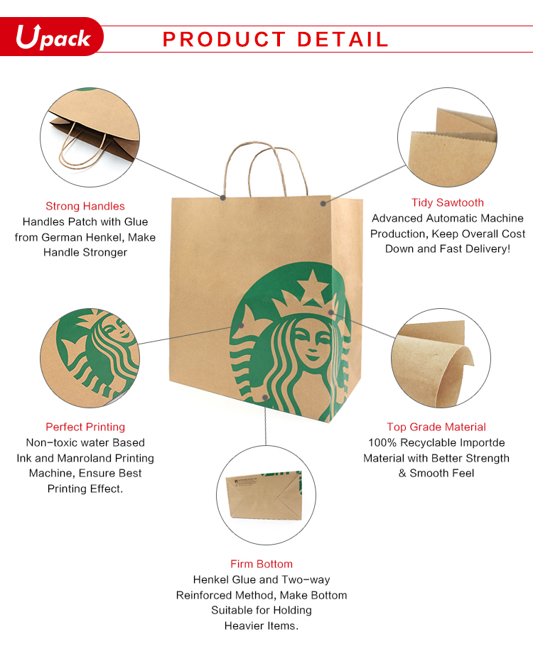 Toptan yeni ürünler yüksek kaliteli fantezi saf beyaz alışveriş bükülmüş kolları ile kraft kağıt torba