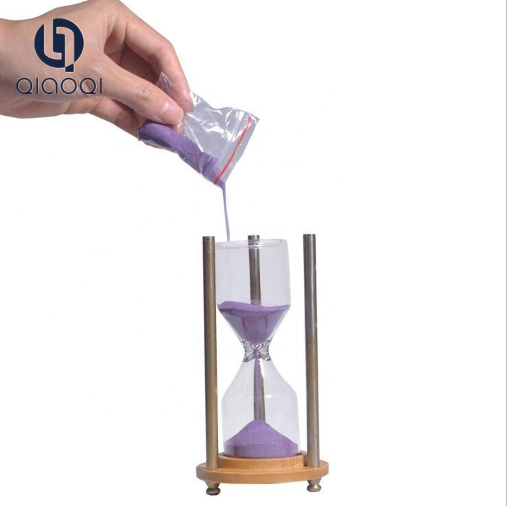 Beautiful new hot wedding favors big 1 2 4 25 48 minutes empty refillable DIY glass metal hourglass sand timer