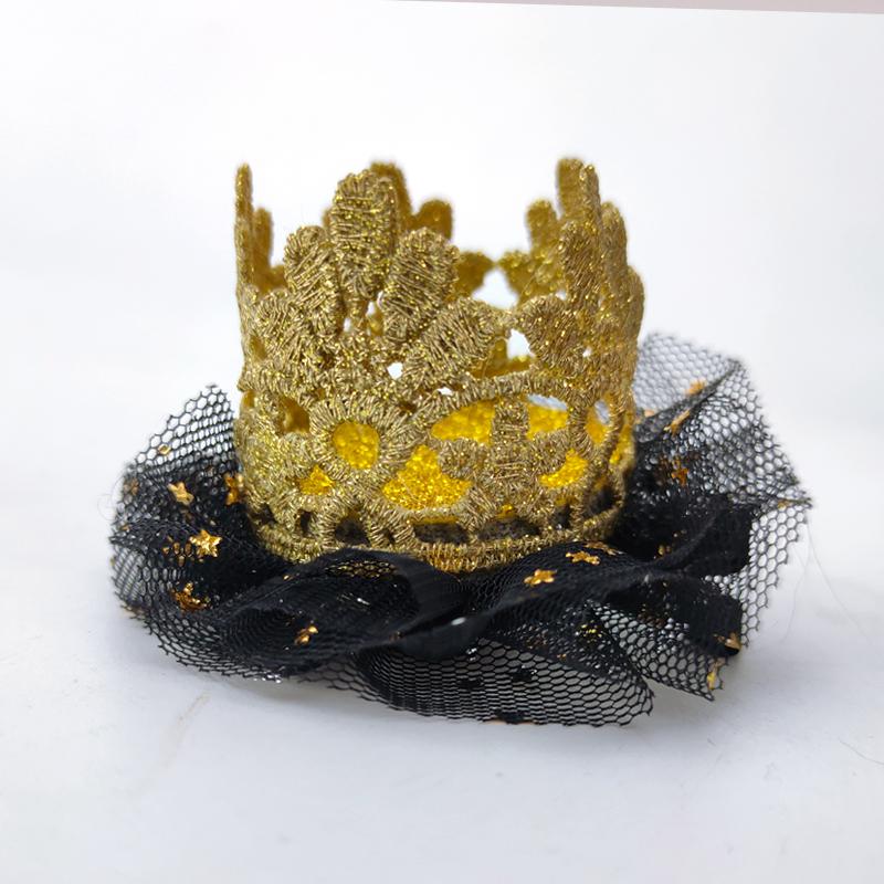 Rambut Klip dengan Bunga Ulang Tahun Mahkota Foto Prop Mahkota untuk Anak-anak