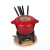 cast iron enamel cheese fondue set cookware mess kit