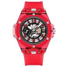 Switzerland Алмазная резка Япония Miyota кварц 2020 Новые Модные прозрачные силиконовые парные часы мужские водонепроницаемые rolexable(Китай)