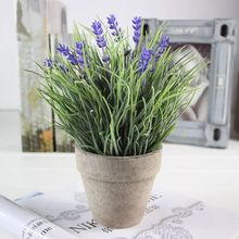 A-492 Mini <span class=keywords><strong>Künstliche</strong></span> Pflanzen <span class=keywords><strong>Lavendel</strong></span> in Zement <span class=keywords><strong>Topf</strong></span> Home Office Decor