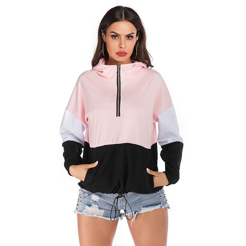 High Quality Winter Long Sleeve Female Crop Top Custom Hoodie Women