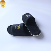Low price cotton velvet hotel slipper soft personalized slippers disposable