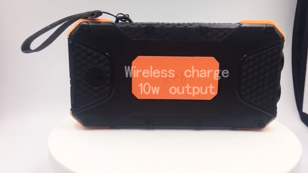 Triple USB solar power bank 20000mah wireless QC 3.0 fast charge power banks for all phone