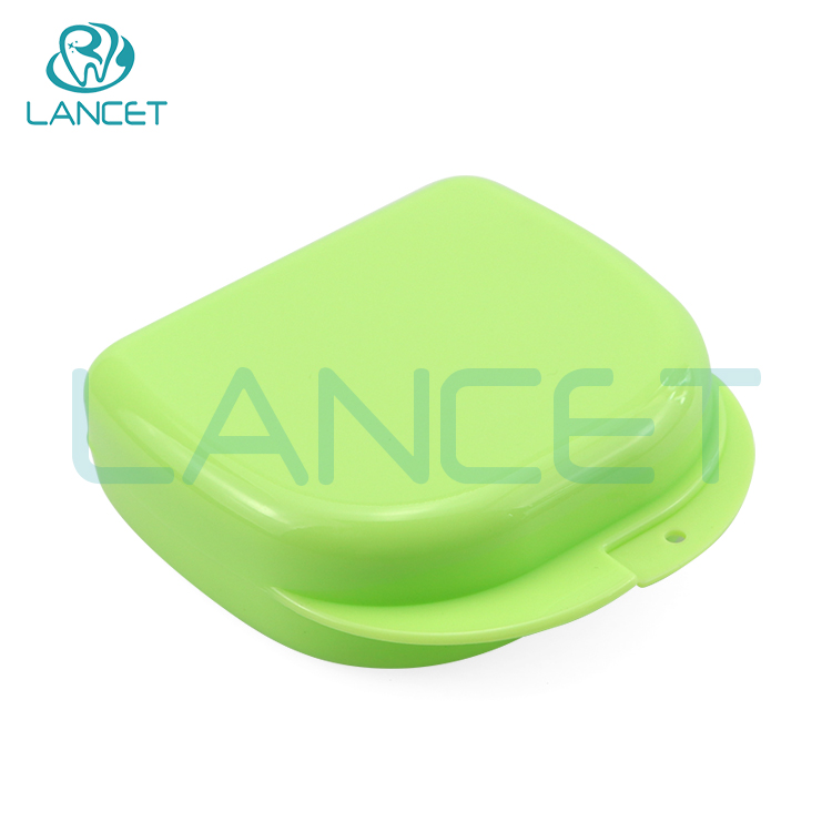 LANCET hospital promotional gifts denture box,Dental consumables Colorful Plastic dental retainer box, orthodontic retainer case