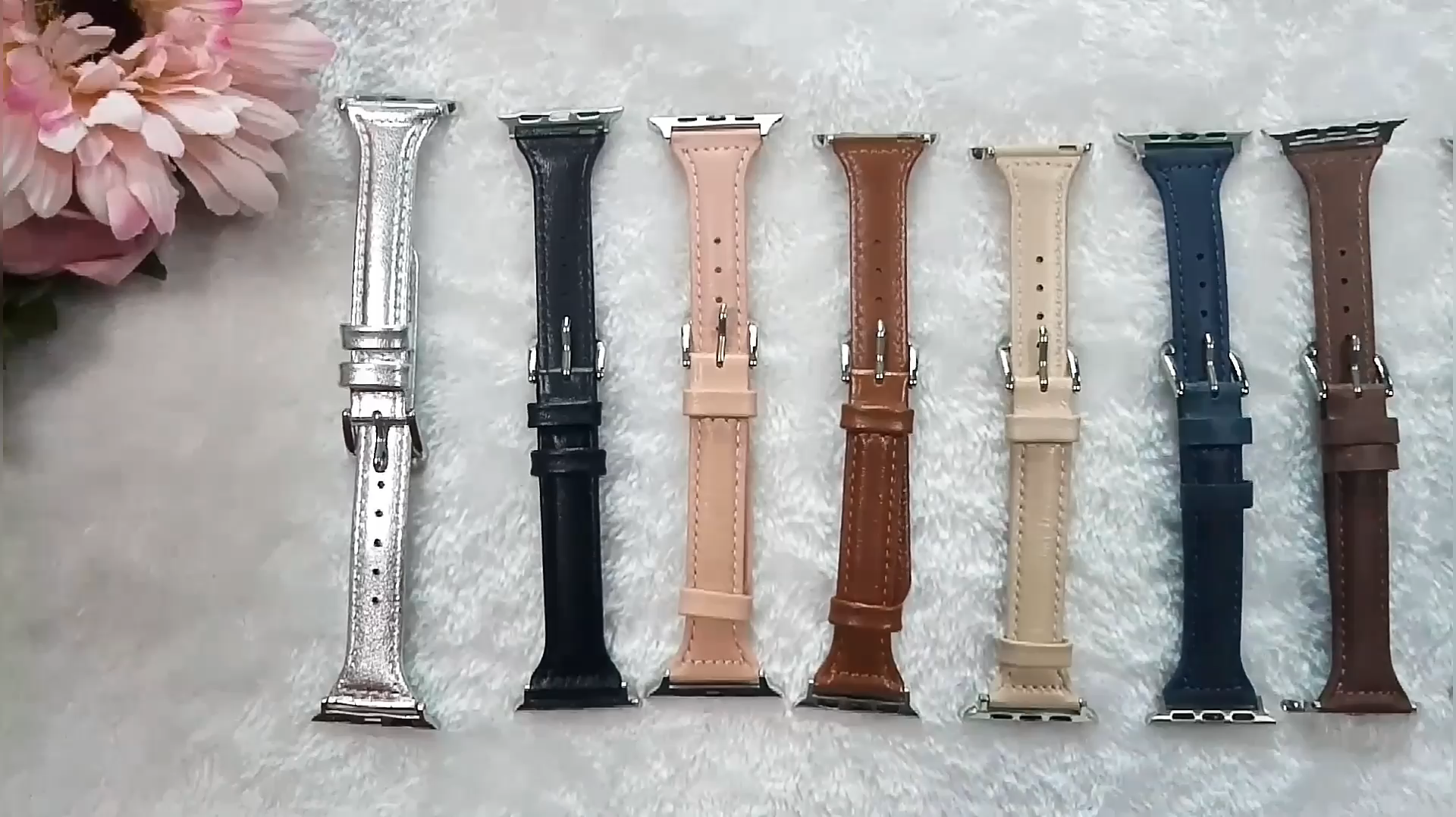 Changeable Genuine Leather Watch Band For Apple Watch Series 5 4 3 2 1 Leather Band Wrist Strap for iWatch 40mm 44mm