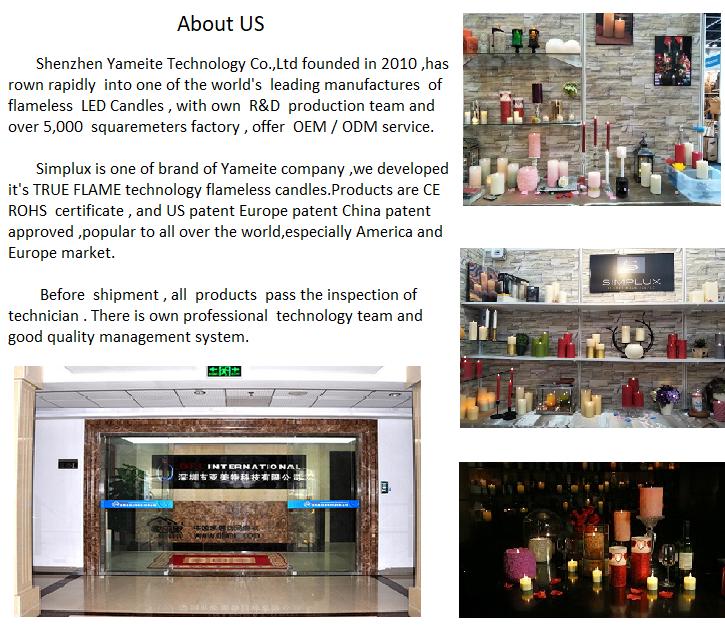 फैशन रंगीन 3D इनडोर क्रिसमस की सजावट के लिए नेतृत्व में flameless मोमबत्तियाँ