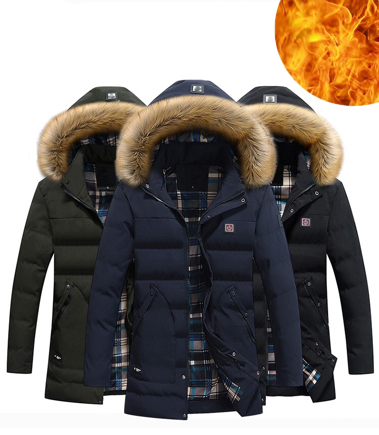 Custom Winter Man Heated Coat Jackets ski hunting heated jacket coats and warm clothing