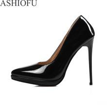ASHIOFU/2020 г. Новые женские туфли-лодочки пикантные модельные туфли на платформе и высоком каблуке 12 см модные Клубные вечерние туфли-лодочки б...(Китай)