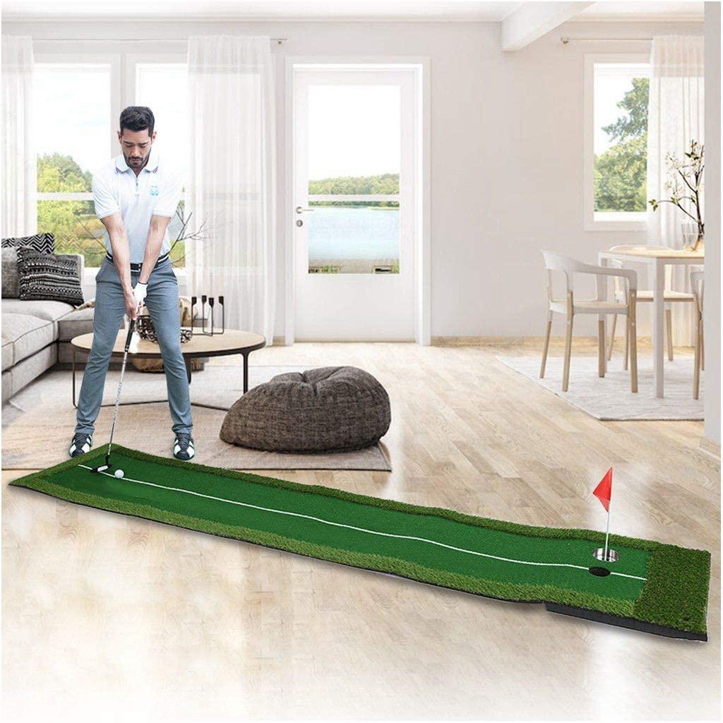 Оптовая продажа Крытый зеленый портативный коврик для гольфа с функцией автоматического возврата мяча мини-тренировочный аппарат для гольфа