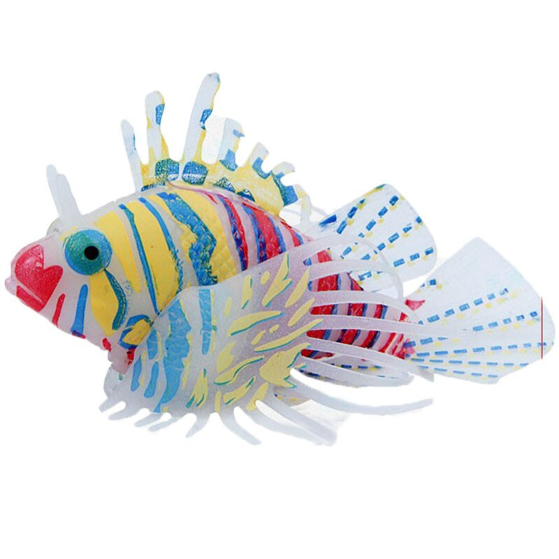 Aquarium Silicone Luminous Ornament Decor Lion <strong>Fish</strong> Pond <strong>Fish</strong> Tank aquariums+ ornamental <strong>fish</strong> decoration