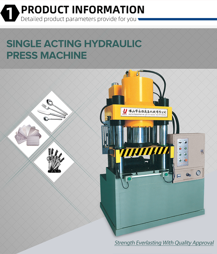 Yongheng Four Column 40 Ton CNC Iron Sheet Metal Forming Making Machine Hydraulic Cold Press India