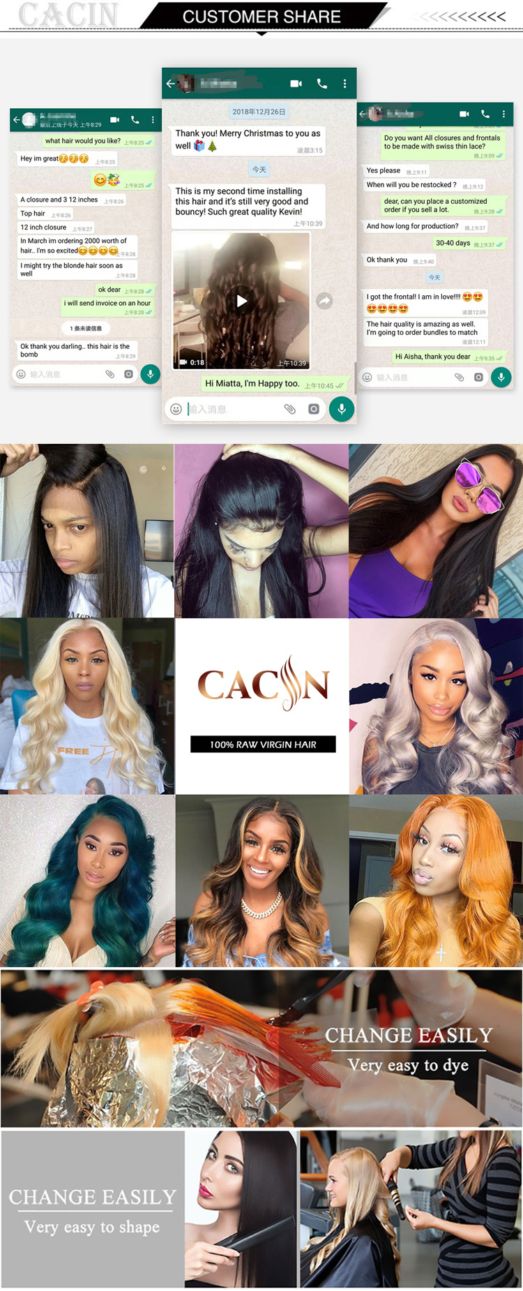 Free samples grade 8a ethiopian virgin human hair