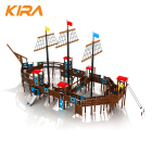 Pirate Ship Play Area Equipment Commercial outdoor Playgrounds Fun for Kids