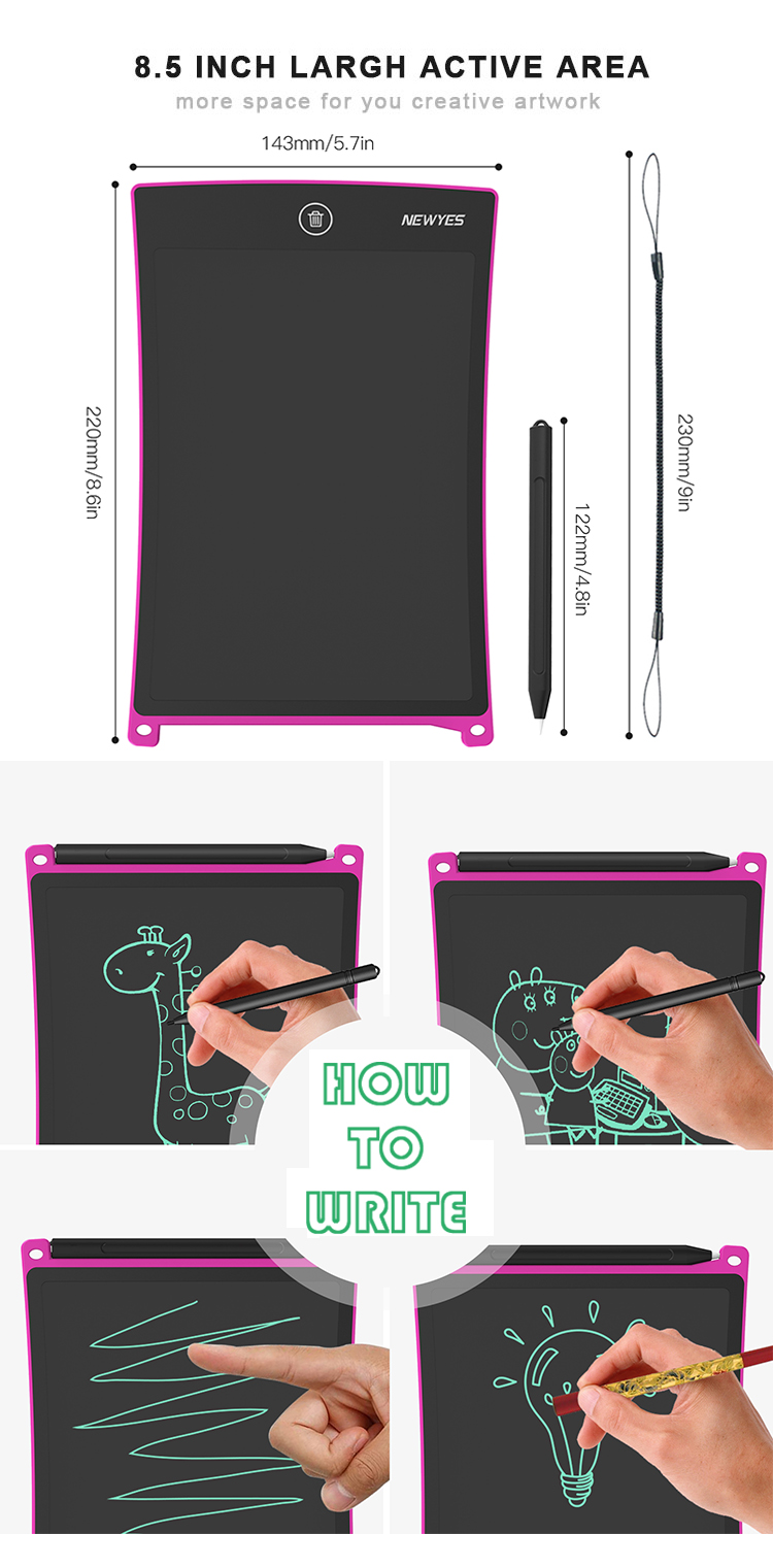 Trending Products Colorful Digital Kids Electronic Drawing Board Lcd Writing Tablet
