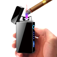 Creative NEW Electric Double ARC Electric Lighter, USB Rechargeable Windproof Lighter DK-613