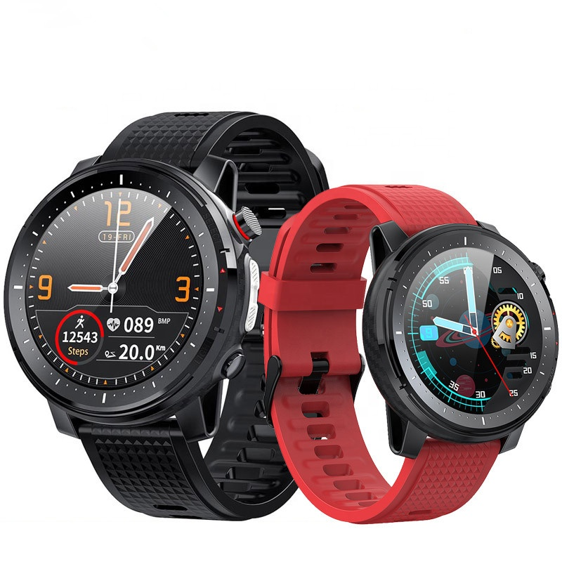 IP68 waterproof Smart watch 1.3inch full round 360*360 pixel ECG Smartwatch Microwear L15 with flashlight