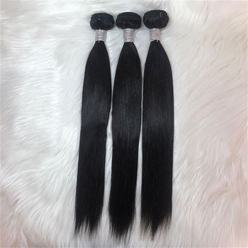 Wholesale cheap human hair bundles vendor silky straight hair weft Indian Remy hair bundles for black women