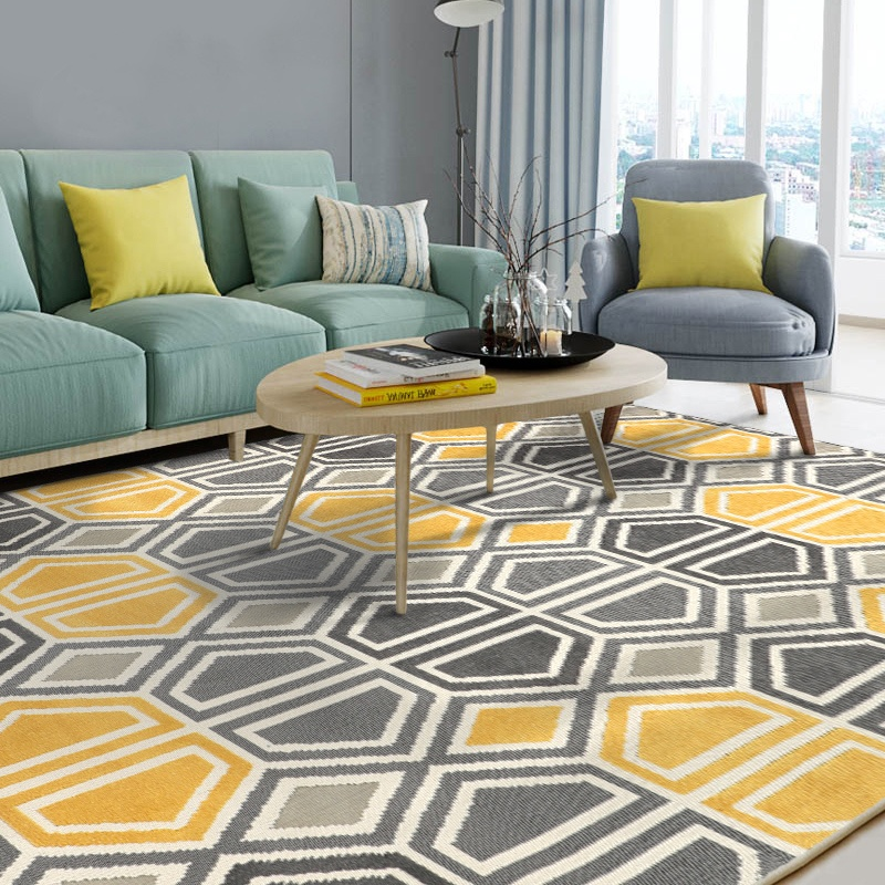 Geometric Pattern Hand Tufted Hotel Home Wool Customized Modern Carpet Rugs